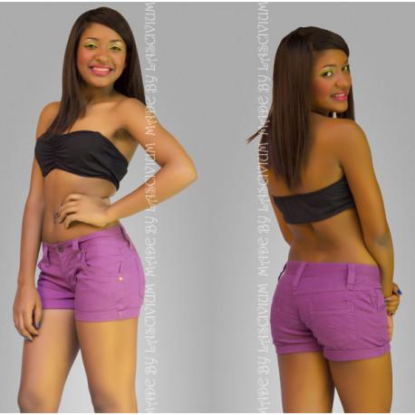 Mini shorts vaqueros color violeta sexys