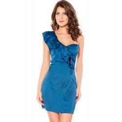 Vestido azul cascada