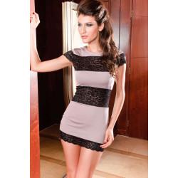 Mini vestido con encaje