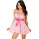 Camisón rosa lazo rosa