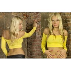Top amarillo mangas largas