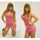 Minivestido rosa lateral abierto