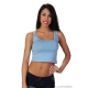 Top tirantes mini azul Texas