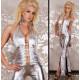Catsuit de vinilo silver sexy