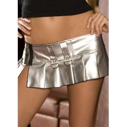 Mini Falda plateada Pvc