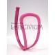 C-string rosa transparente