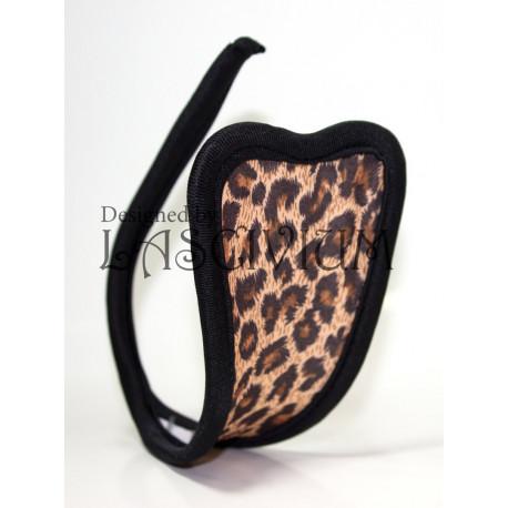 C-string leopardo negro