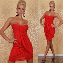 Vestido corto rojo banda