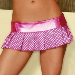 Mini falda tableada rosa