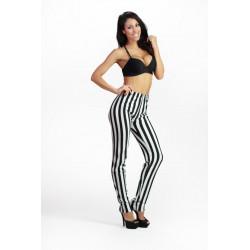 Leggings rayas blancas y negras Cebra