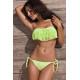 Bikini bandeau flecos verde