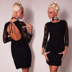 Vestido seductor encaje negro