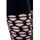 Legging elastico negro de malla ancha