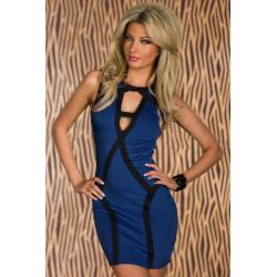 Vestido elegante azul bandage