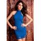 Elegante vestido encaje azul