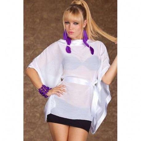 Bluson transparente blanco y minifalda
