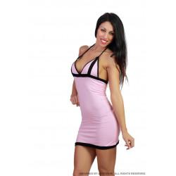 Minivestido rosa pecho practicable