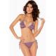 Bikini lila volantes
