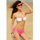 Bikini braguita rosa top blanco