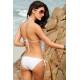 Bikini blanco aros y flecos