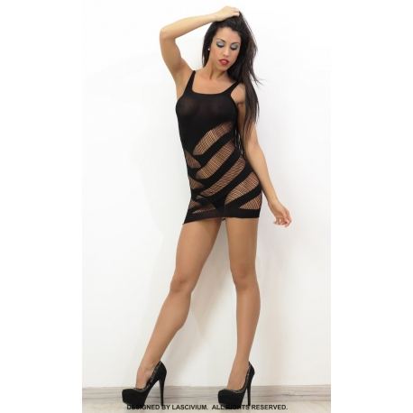 Bodystocking corto con cortes laterales