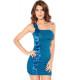 Sexy vestido blue cascada