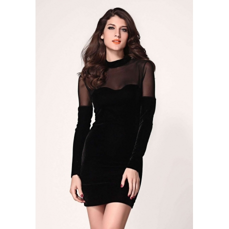 Vestido negro de terciopelo
