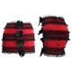 Minifalda roja y negra lazos