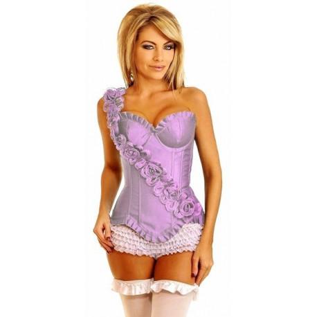Corsé violeta rosas