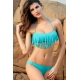 Bikini flecos azul