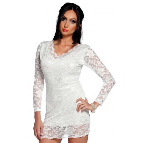 Mini vestido Lola blanco