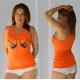 Camiseta naranja Lascivium